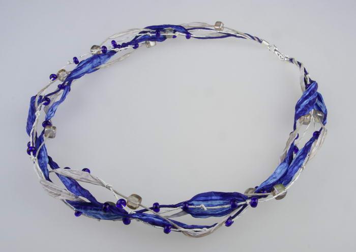 Ketting Blauw- Grijs - Zilver